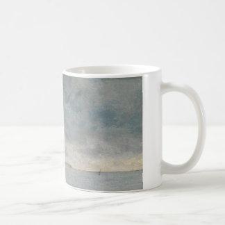 John Constable - Coastal Scene with Cliffs Coffee Mug
