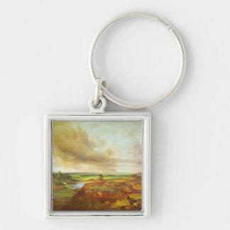 John Constable - Hampstead Heath Silver-Colored Square Keychain