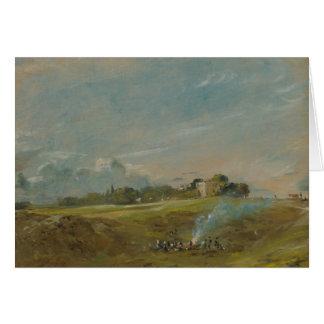 John Constable - Hampstead Heath, with a Bonfire Card
