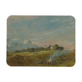 John Constable - Hampstead Heath, with a Bonfire Magnet