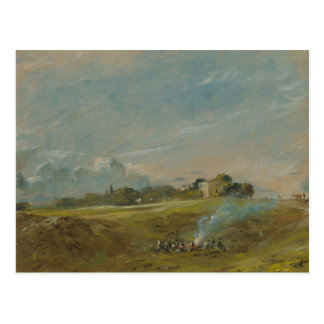John Constable - Hampstead Heath, with a Bonfire Postcard