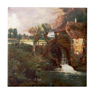 John Constable - molino de Parham (modificado) Azulejo Cuadrado Pequeño