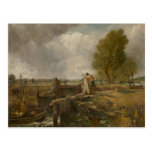 John Constable - Study of a Boat Passing a Lock Postcard