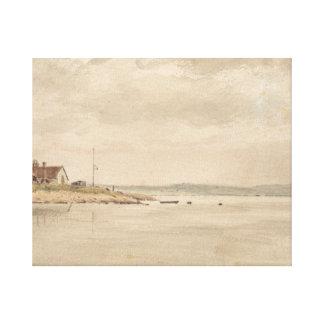 John Constable - una opinión sobre el Orwell Impresión En Lienzo