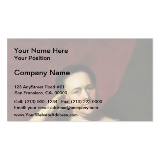 John Copley- Mrs.John Scoally (Mercy Greenleaf) Double-Sided Standard Business Cards (Pack Of 100)