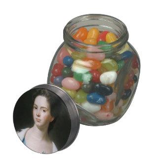 John Copley-  Mrs. Joseph Barrell (Hannah Fitch) Glass Candy Jars