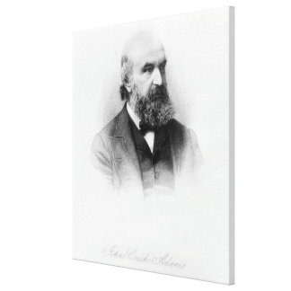 John Couch Adams, engraved by George J. Stodart Canvas Print