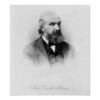 John Couch Adams, engraved by George J. Stodart Poster