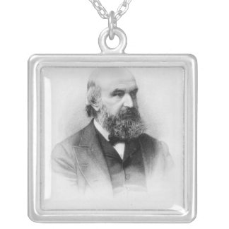 John Couch Adams, engraved by George J. Stodart Square Pendant Necklace