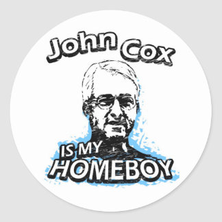 John Cox is my homeboy Classic Round Sticker