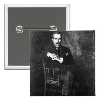 John Davison Rockefeller 2 Inch Square Button