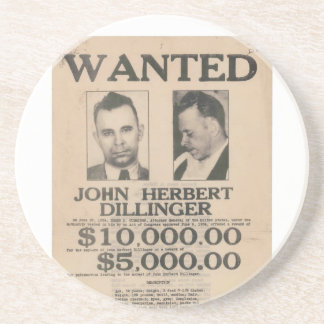 John Dillinger quiso el poster Posavasos Cerveza