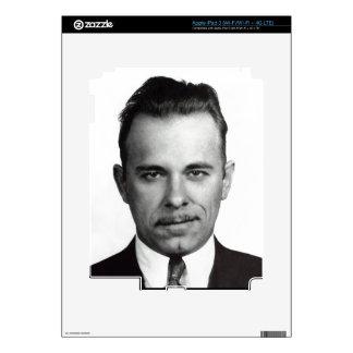 JOHN DILLINGER SKIN DECALS FOR iPad 3