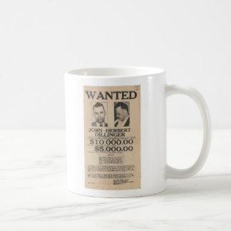 John Dillinger Wanted Poster Coffee Mug