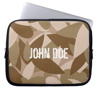 John Doe | camouflage custom made name Computer Sleeve