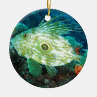 John Dory Double-Sided Ceramic Round Christmas Ornament