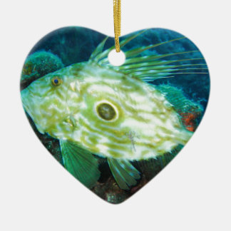 John Dory Double-Sided Heart Ceramic Christmas Ornament