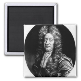 John Dryden  engraved by William Faithorne 2 Inch Square Magnet