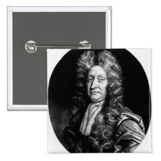 John Dryden  engraved by William Faithorne Button