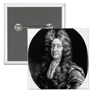 John Dryden  engraved by William Faithorne Button