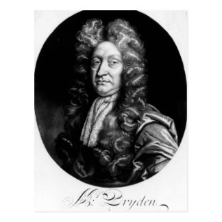 John Dryden  engraved by William Faithorne Postcard