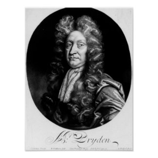 John Dryden  engraved by William Faithorne Poster