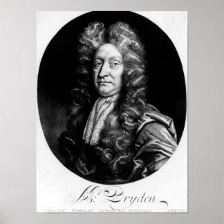 John Dryden  engraved by William Faithorne Poster