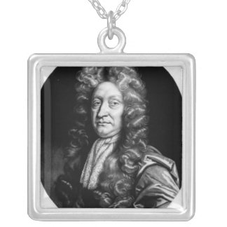 John Dryden  engraved by William Faithorne Silver Plated Necklace