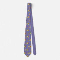 John Dyer purple Parrot Tie