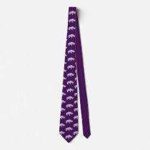 John Dyer purple rhino tie