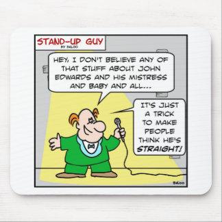 john edwards think straight mouse pad