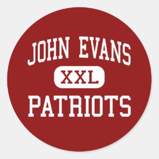 John Evans - Patriots - Middle - Greeley Colorado Classic Round Sticker