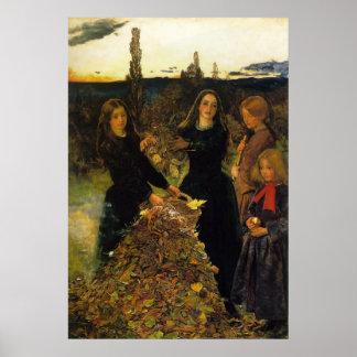 John Everett Millais Autumn Leaves Poster