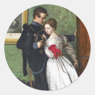 John Everett Millais el Brunswicker negro Pegatinas Redondas