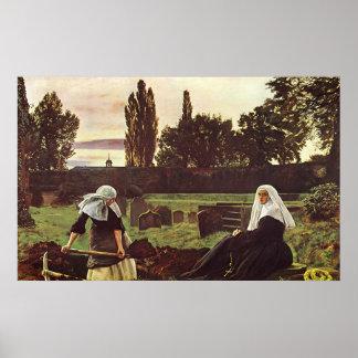 John Everett Millais el valle del resto Póster