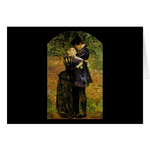 John Everett Millais Isabel hugonote Tarjetón