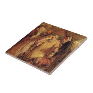 John Everett Millais- Lear And Cordelia Ceramic Tiles