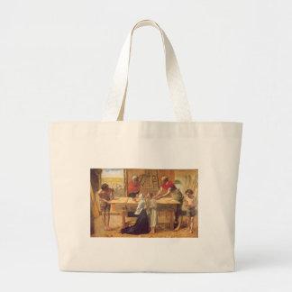John Everett Millais Millais christ in the house Tote Bag
