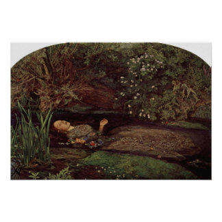 John Everett Millais - Ofelia Póster