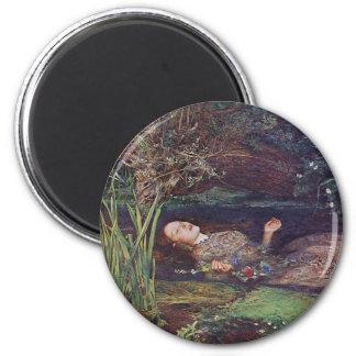John Everett Millais Ophelia 2 Inch Round Magnet