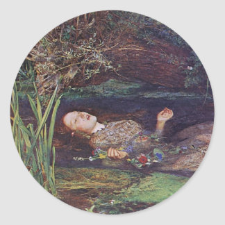John Everett Millais Ophelia Classic Round Sticker