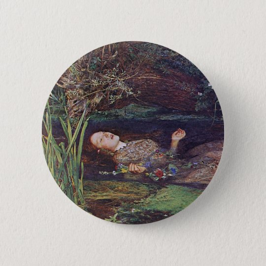 John Everett Millais Ophelia Pinback Button