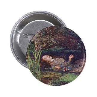 John Everett Millais Ophelia Pinback Button