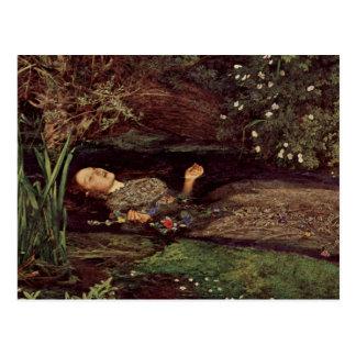 John Everett Millais Ophelia Postcard