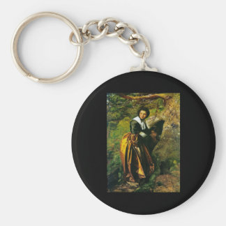 John Everett Millais Royalist Basic Round Button Keychain
