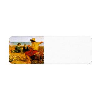 John Everett Millais- The Boyhood of Raleigh Custom Return Address Label
