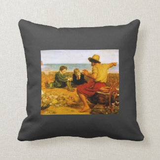 John Everett Millais- The Boyhood of Raleigh Throw Pillows