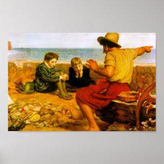John Everett Millais- The Boyhood of Raleigh Posters