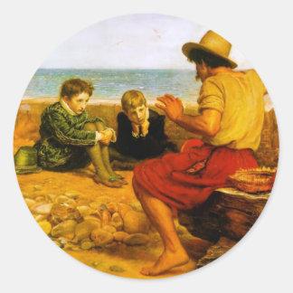 John Everett Millais- The Boyhood of Raleigh Classic Round Sticker
