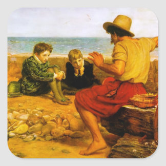 John Everett Millais- The Boyhood of Raleigh Square Sticker